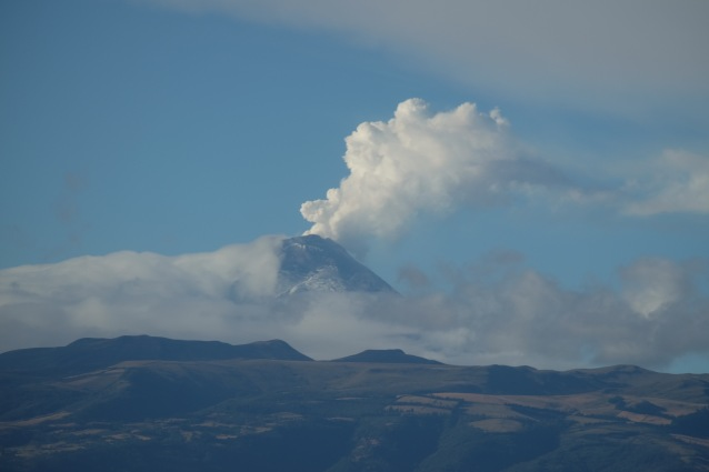 Cotopaxi looking benign but very active indeed